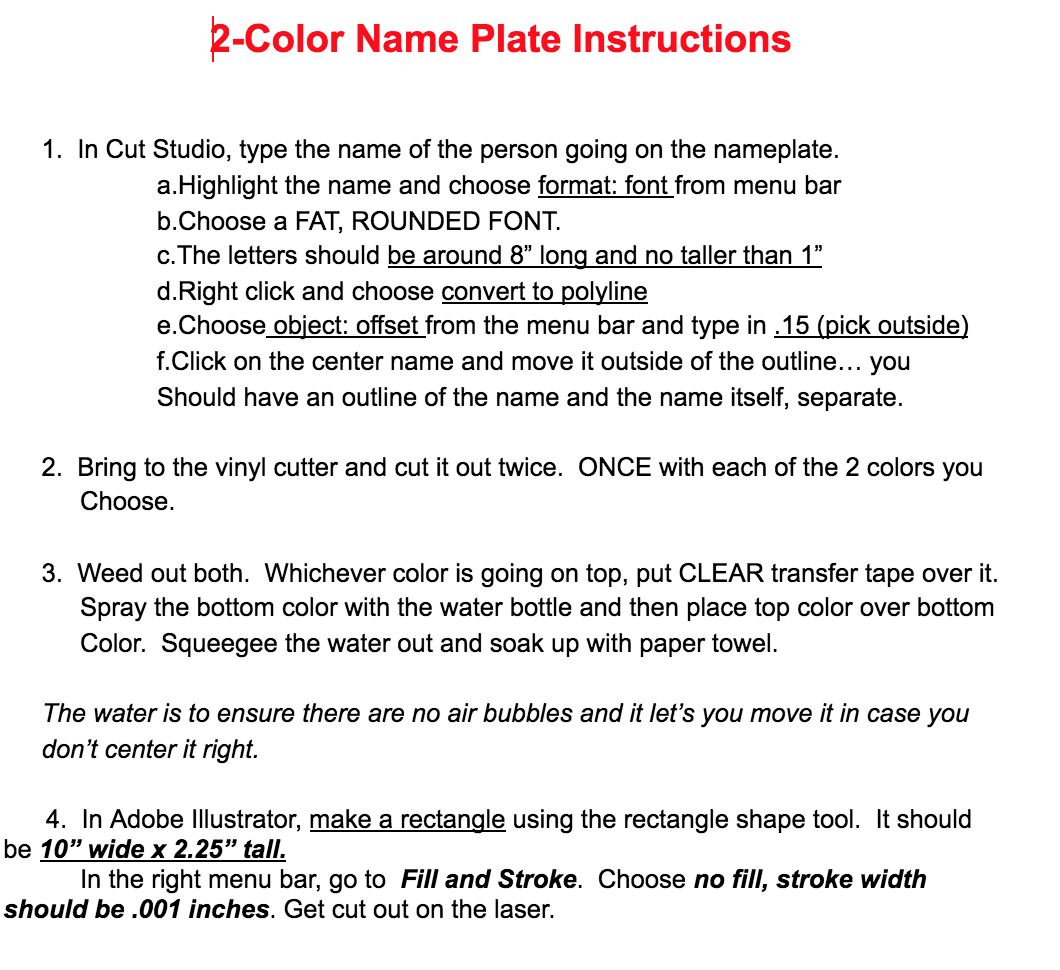 photo about Printable Vinyl Decal Instructions identify Recommendations for Tools and Assignments - Fab Lab at Valley